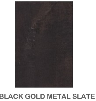 BLACK GOLD METAL SLATE