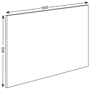 900X1500X19MM PLAIN  PANEL - ASHBURY