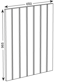 965X650X19MM T&G END PANEL - ASHBURY