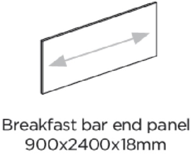BREAKFAST BAR END PANEL 2400X900MM - BELSAY