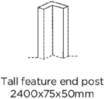 FEATURE END POST 2400X75X50MM