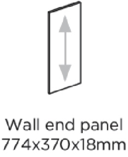 WALL END PANEL 774X370MM - BELSAY