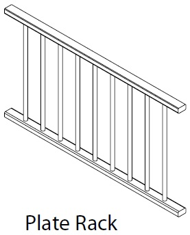 1200MM PLATE RACK - CARTMEL