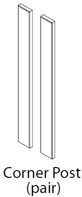 715X70MM CORNER POST (PAIR) - CARTMEL