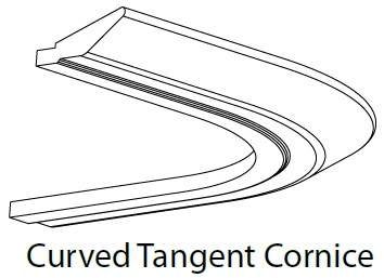 CURVED TANGENT CORNICE - CARTMEL