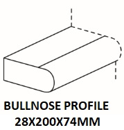 BULLNOSE PROFILE 2000X74X28MM