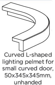 EXTERNAL  CURVED  PELMET