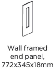 WALL FRAMED END PANEL 772X345X18MM
