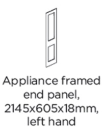 APPLIANCE FRAMED END PANEL LEFT HAND