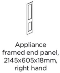 APPLIANCE FRAMED END PANEL RIGHT HAND