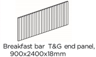T&G BREAKFAST BAR BACK PANEL 900X2400X18MM