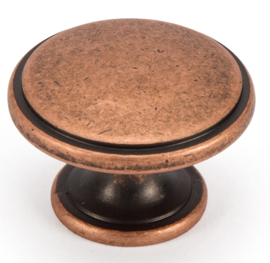 AGED COPPER KNOB HANDLE 40MM