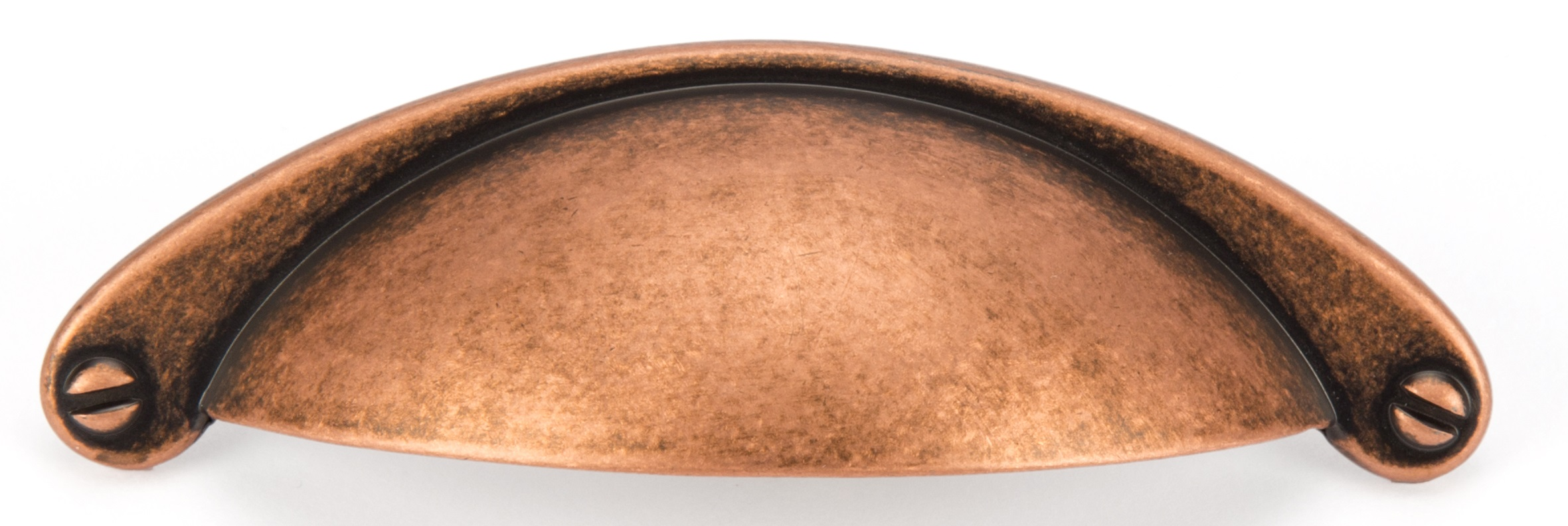 AGED COPPER CUP HANDLE 105MM (64MM CENTRES)