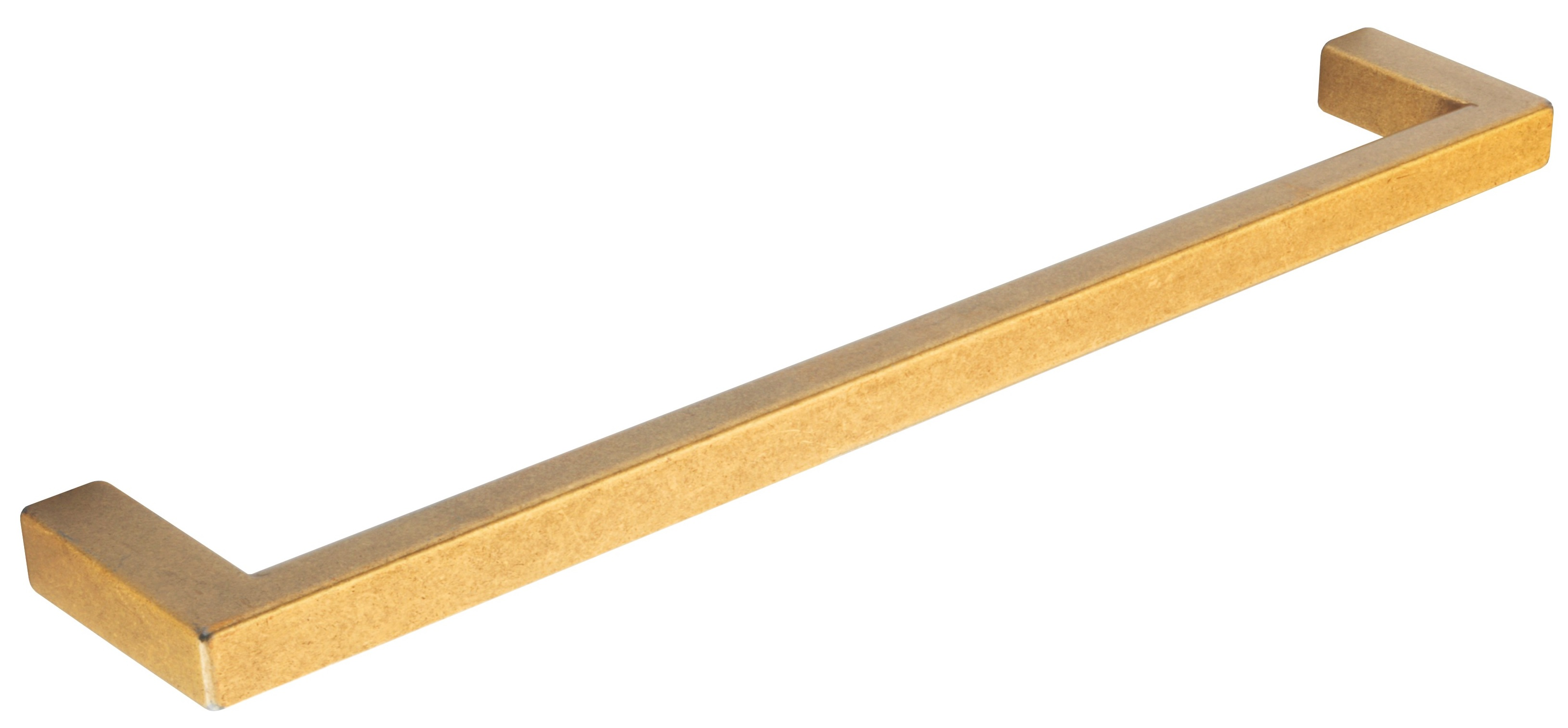 AGED BRASS BAR HANDLE 168MM (160MM CENTRES)