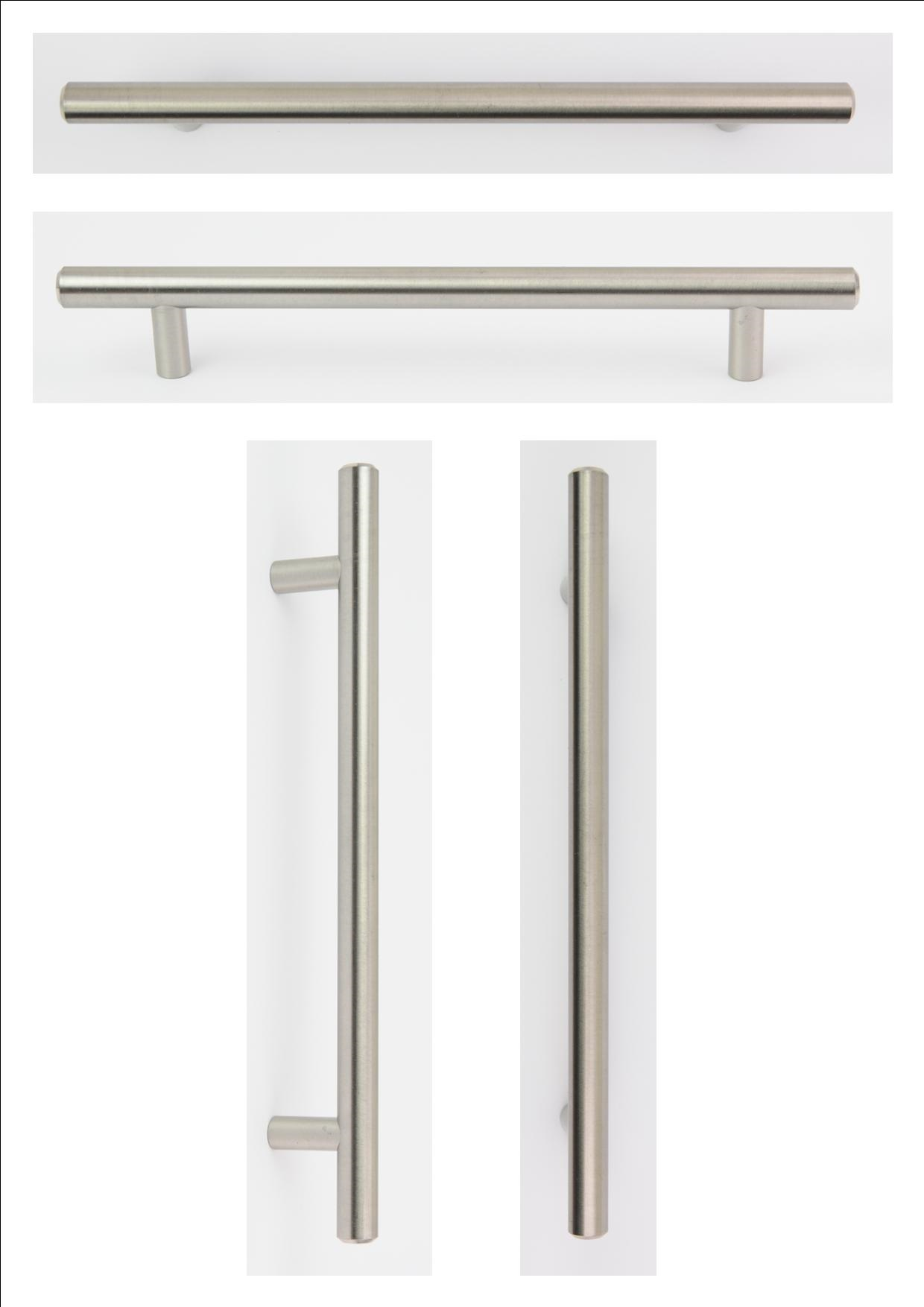 STEEL  T BAR HANDLE 220MM (160MM CENTRES) - OLD CODE HS01