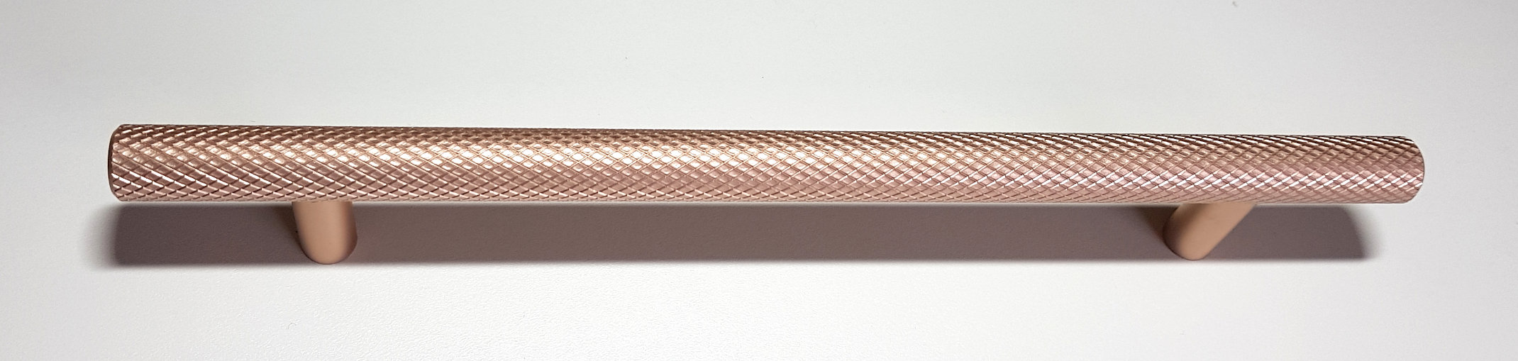 BRUSHED COPPER KNURLED HANDLE 220MM (160MM CENTRES)