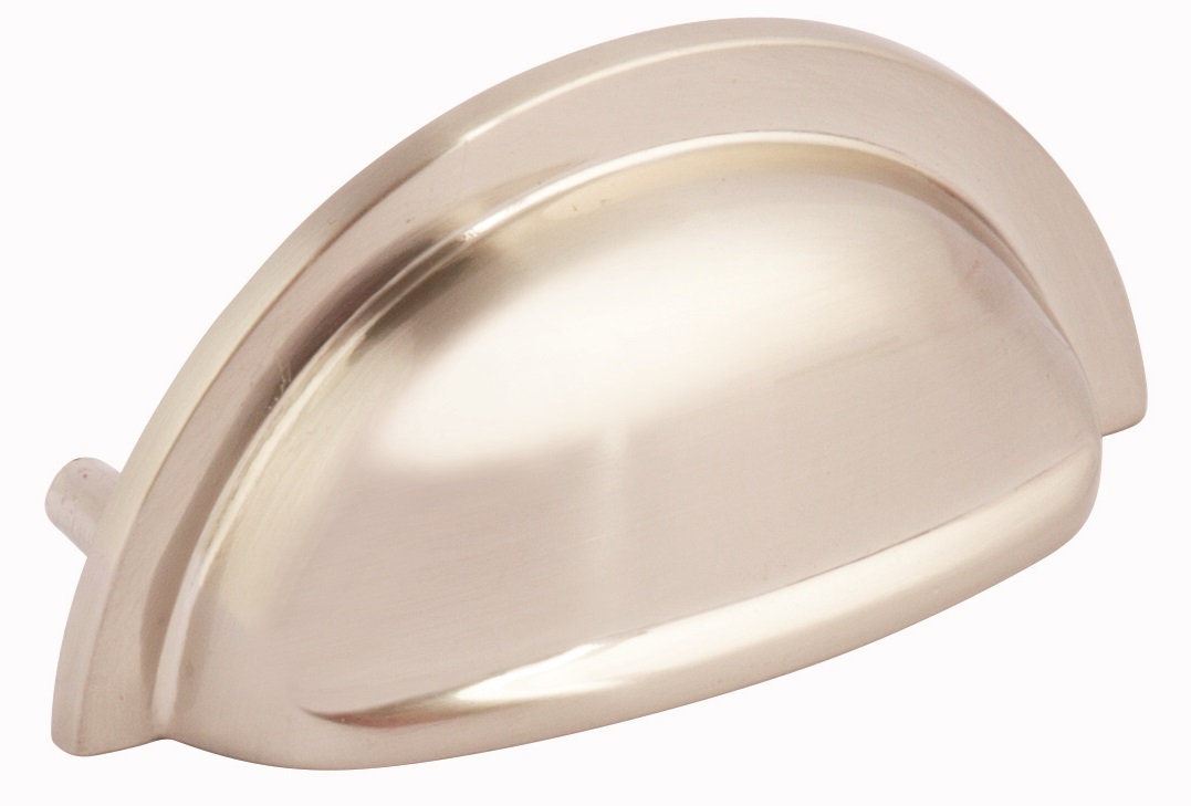 BRUSHED NICKEL CUP HANDLE 92MM (76MM CENTRES) - OLD CODE HS60