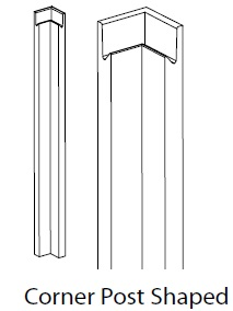 SHAPED CORNER POST - LUCENTE