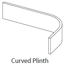 EXTERNAL CURVED PLINTH LUCENTE MATT