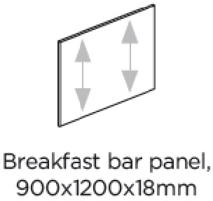 1200X900X18MM BREAKFAST BAR END PANEL