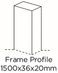 FRAME PROFILE 1500X36X20MM