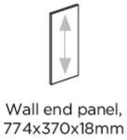 774HX370W WALL END PANEL