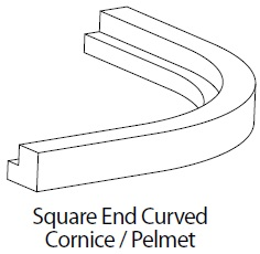 EXTERNAL CURVED CORNICE/PELMET SQ