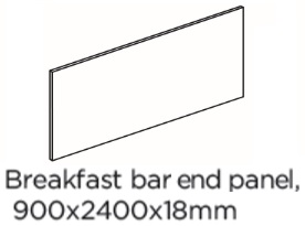 BREAKFAST BAR END PANEL 900X2400X18MM T&G
