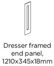 DRESSER FRAMED END PANEL 1210X345X18MM
