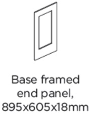 FRAMED BASE END PANEL 895X605X18MM