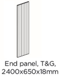 T&G END PANEL 2400X650X18MM