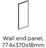 WALL END PANEL 774X370X18MM