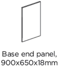 BASE END PANEL 900X650X18MM