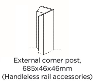 EXTERNAL CORNER POST 685X46X46MM