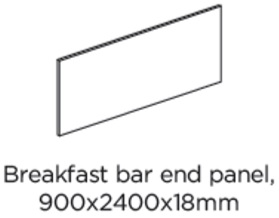 BREAKFAST BAR PANEL 2400X900X18MM
