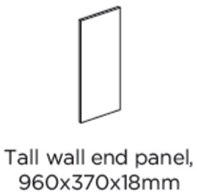 WALL END PANEL 960X370X18MM