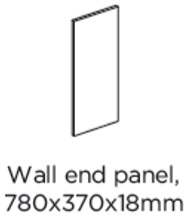 WALL END PANEL 780X370X18MM