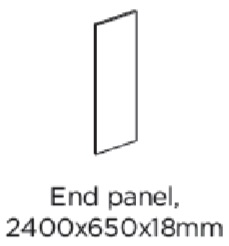 2400X650X18MM LARDER END PANEL - PORTER