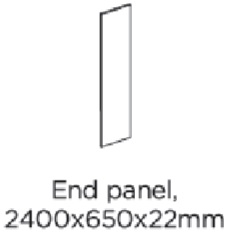 2400X650X22MM LARDER END PANEL