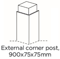 EXTERNAL CORNER POST 900X75X75MM