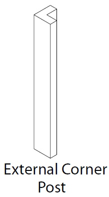 EXTERNAL CORNER POST 325X46MM VIVO MATT