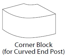CORNER BLOCK 40.5X40.5X35MM  VIVO MATT