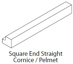SQUARE END CORNICE/PELMET - VIVO
