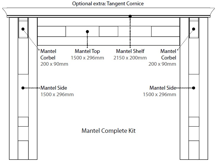COMPLETE MANTEL KIT